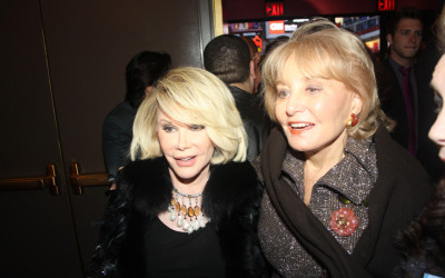 Joan Rivers and Barbara Walters