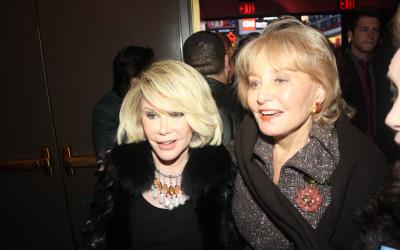 Joan Rivers and Barbara Walters